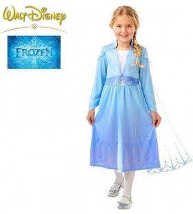 Sierlijke IJsprinses Elsa Frozen Meisje Kostuum
