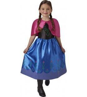 Charmante Prinses Anna Frozen Meisje Kostuum