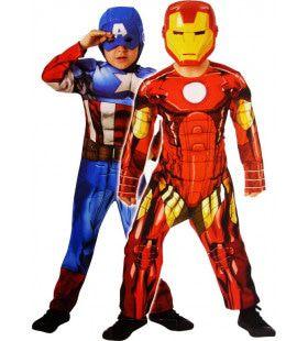 Omkeerbare Deluxe Captain America En Iron Man Kind Kostuum