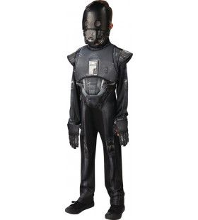 Zwarte Robot Star Wars K-2so Droid Deluxe Kind Jongen Kostuum