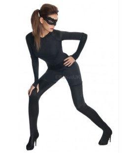 In Bochten Wringende Superaantrekkelijke Catwoman Vrouw Kostuum