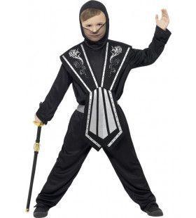 Meedogenloze Ninja Strijder Jongen Kostuum