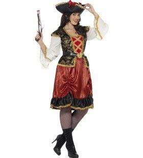 Kraaiennest Piraat Vrouw Kostuum