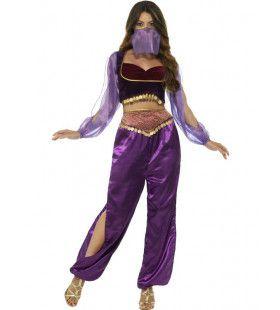 Paars Sherezade 1001 Nacht Prinses Vrouw Kostuum