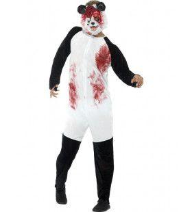 Gewonde Zombie Panda Man Kostuum
