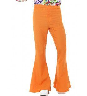Oranje Disco Broek Wijde Pijpen