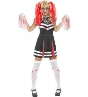 Bezeten Fanatieke Cheerleader Vrouw Kostuum