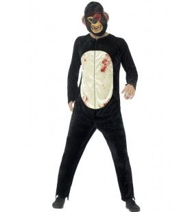 Agressieve Zombie Chimpansee Man Kostuum
