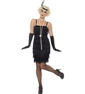 Sarah Swing Flapper Vrouw Kostuum