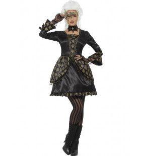 Mysterieuze Venetiaanse Schone Vrouw Kostuum