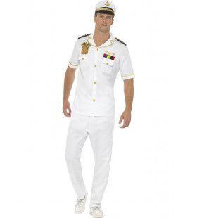 Kapitein Luxe Cruise Boot Man Kostuum