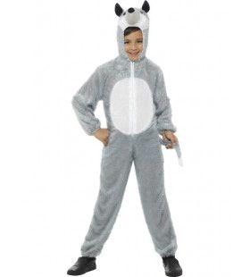 Zachte Grijze Steppen Wolf Kind Kostuum