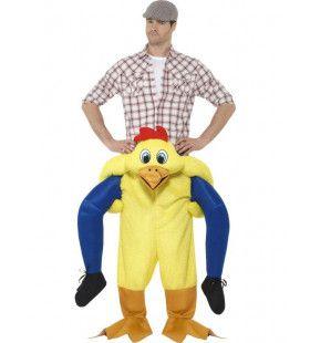 Op De Rug Van Een Kip Man Kostuum