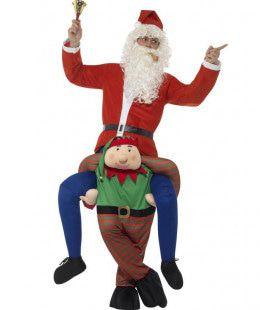 Elf Draagt Kerstman Kostuum