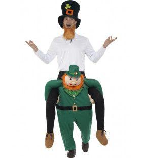 Paddy Op Een Leprechaun Man Kostuum