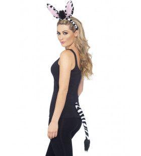 Set Oren En Staart Savanne Zebra