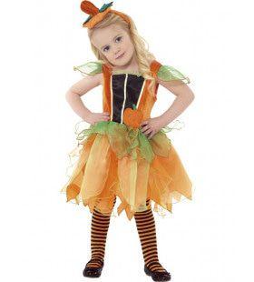 Lieve Halloween Pompoen Fee Meisje Kostuum