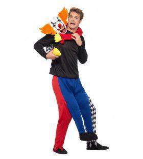 Killer Horror Clown Op Je Nek Man Kostuum