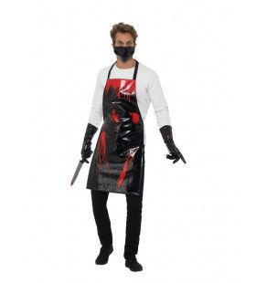Bloederige Slachter Slager Chirurg Man Kostuum