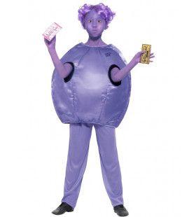 Roald Dahl Sjakie En De Chocoladefabriek Violet Beauregarde Beauderest Jongen Kostuum