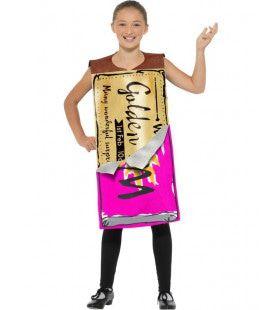 Roald Dahl Willy Wonka Gouden Wikkel Chocolade Reep Kostuum