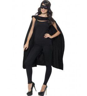 Zwarte Cape En Oogmasker Superheld Zorro