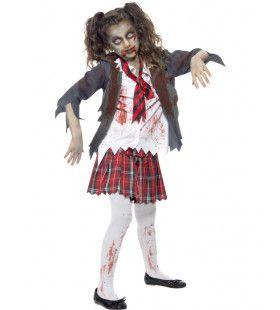 Ziek Zombie School Meisje Shirley Kostuum