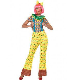 Gerda Giechel Mulitcolor Clown Vrouw Kostuum