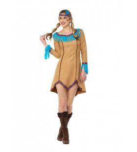 Mississippi Indiaan Wilde Mustang Vrouw Kostuum