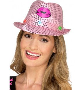 Roze Hen Party Trilby Hoed