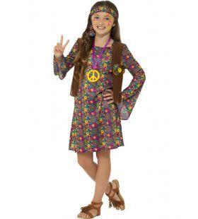 Jong En Vrij Hippie Meisje Kostuum