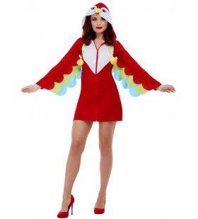 Rode Regenwoud Guatemala Papegaai Vrouw Kostuum