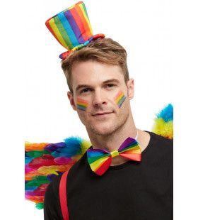 Feestelijke Festival Mini Hoed Op Haarband Regenboog