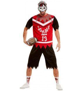 Wrede Tackle American Football Zombie Man Kostuum