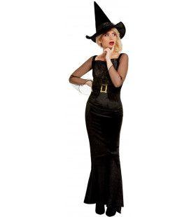 Glam Heks Duister Gala Vrouw Kostuum
