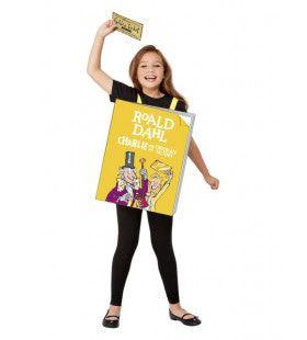 Reclame Bord Boek Roald Dahl Sjakie Kind Kind Kostuum