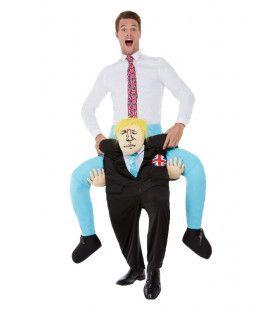 Op De Schouders Van Boris Johnson Man Kostuum