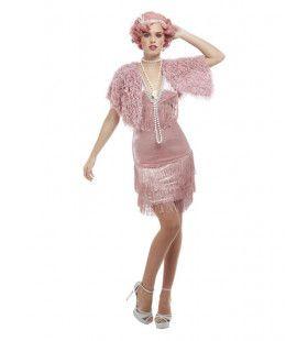 Jaren 20 Roze Flapper Jurk Rachel Vrouw