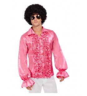 Roze 60s Rouches Hemd Man