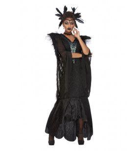 Lange Uitbundige Horror Flapper Vrouw Kostuum