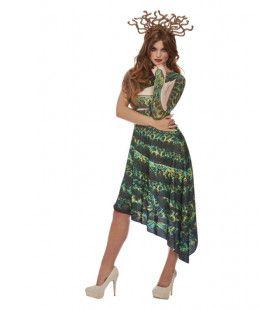 Medusa De Groene Bosnimf Vrouw Kostuum