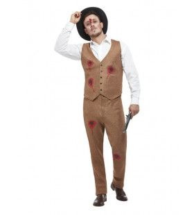 Neergeschoten Gangster Clyde Man Kostuum