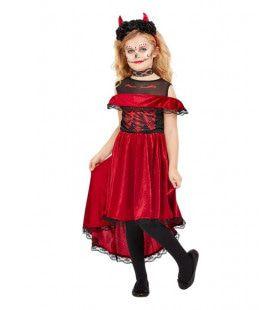 Schattige Spaanse Duivel Senorita Meisje Kostuum