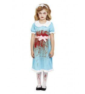 Lief Meisje Besmeurd Met Bloed Kostuum