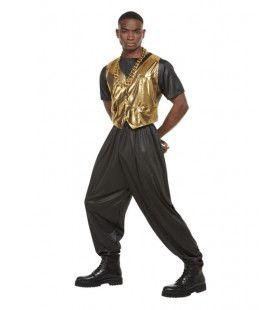 80s Hammer Time Rapper Man Kostuum