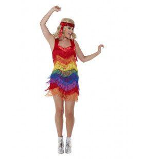 Regenboog Jaren 20 Flapper Jurk Vrouw