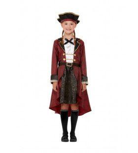 Deluxe Amazone Zwaardvechtster Piraten Meisje Kostuum