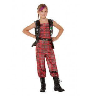 90s Rocken Als Een Punker Meisje Kostuum