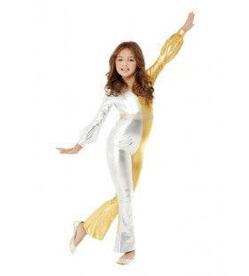 Jaren 70 Goud En Zilver Space Meisje Kostuum