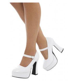 70s Dansende Witte Schoenen Plateauzolen